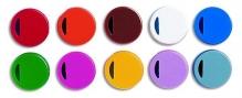 Цветные крышки (коды) для криопробирок, белые