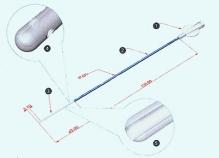 Катетер для внутримат. оплодотворения с 2-мя боковыми отверс