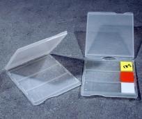 Контейнер для транспортировки 3 предметных стекол, с крышкой