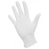 Nitrile смотровые перчатки, Белые, S